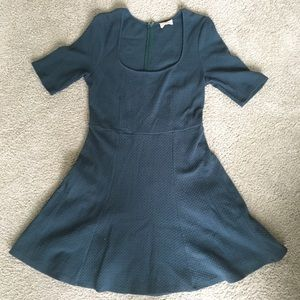 Urban Outfitters Deep Green Fit and Flare Dress